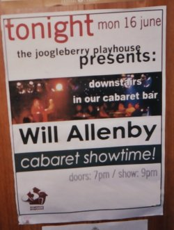 Joogleberry Playhouse debut, Brighton UK