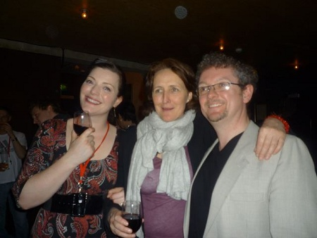 William with Fiona Shaw (director) and soprano Kate Valentine