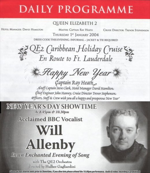 Will Allenby QE2 Program
